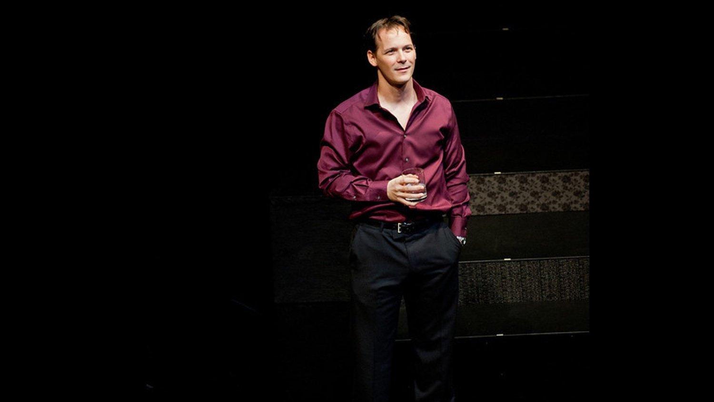 Jim Poulos as Boby - Company at Geva Theatre Center, 2012: Director: Mark Cuddy, Scenic Design: G.W. Mercier, Costume Design: Pamela Scofield, Lighting Design: Joel Moritz, Photos: Ken Huth
