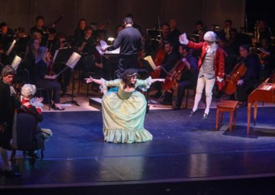"""""""IMG_5961.jpg_ The Fayetteville Symphony, Cape Fear Regional Thatre and Th university of North Carolina at Pembroke Choir present Amadeus at Seabrook Auditorium on Friday, March20th, 2015."""""""