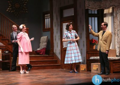 Christian Pedersen, Jessica Kitchens, Roya Shanks and Jim Poulos - Clybourne Park: A co-production between Geva Theatre Center and Cleveland Playhouse, 2014: Director: Mark Cuddy, Scenic and Costume Design: G.W. Mercier, Lighting Design: Ann G. Wrightson, Photos: Ken Huth