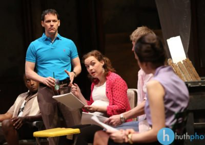 Jim Poulos, Jessica Kitchens, Christian Pedersen and Roya Shanks - Clybourne Park: A co-production between Geva Theatre Center and Cleveland Playhouse, 2014: Director: Mark Cuddy, Scenic and Costume Design: G.W. Mercier, Lighting Design: Ann G. Wrightson, Photos: Ken Huth