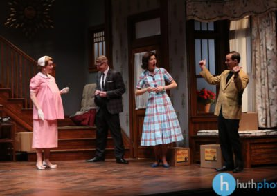 Jessica Kitchens, Christian Pedersen, Roya Shanks and Jim Poulos - Clybourne Park: A co-production between Geva Theatre Center and Cleveland Playhouse, 2014: Director: Mark Cuddy, Scenic and Costume Design: G.W. Mercier, Lighting Design: Ann G. Wrightson, Photos: Ken Huth