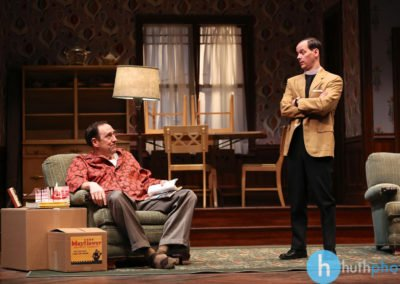 Skip Greer and Jim Poulos - Clybourne Park: A co-production between Geva Theatre Center and Cleveland Playhouse, 2014: Director: Mark Cuddy, Scenic and Costume Design: G.W. Mercier, Lighting Design: Ann G. Wrightson, Photos: Ken Huth