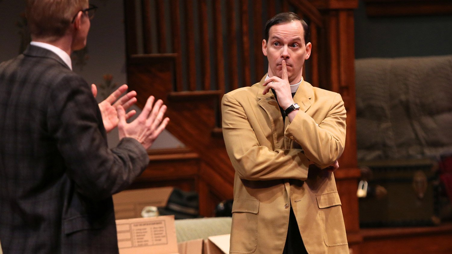 Christian Pedersen, Jim Poulos in Clybourne Park at Geva Theatre Center
