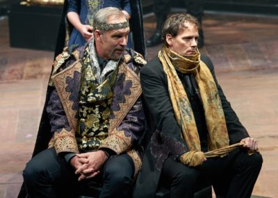 Michael James Reed, Robynn Rodriguez, Jim Poulos - Hamlet by William Shakespeare presented by Repertory Theater of St. Louis on Oct 10, 2017. Michael James Reed, Robynn Rodriguez, Jim Poulos - Hamlet by William Shakespeare presented by Repertory Theater of St. Louis on Oct 10, 2017. Michael James Reed, Robynn Rodriguez, Jim Poulos - Hamlet by William Shakespeare presented by Repertory Theater of St. Louis on Oct 10, 2017. Photo: Peter Wochniak