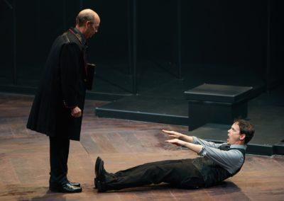 Larry Paulsen, Jim Poulos - Hamlet by William Shakespeare presented by Repertory Theater of St. Louis on Oct 10, 2017. Photo: Peter Wochniak