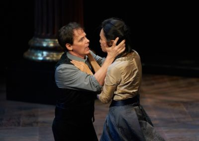 Kim Wong, Jim Poulos - Hamlet by William Shakespeare presented by Repertory Theater of St. Louis on Oct 10, 2017. Photo: Peter Wochniak