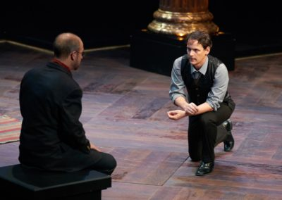 Jim Poulos, Christopher Gerson - Hamlet by William Shakespeare presented by Repertory Theater of St. Louis on Oct 10, 2017. Photo: Peter Wochniak