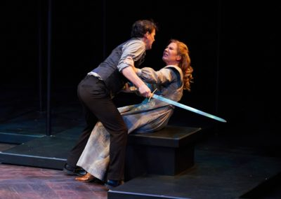 Jim Poulos, Robynn Rodriguez - Hamlet by William Shakespeare presented by Repertory Theater of St. Louis on Oct 10, 2017. Photo: Peter Wochniak