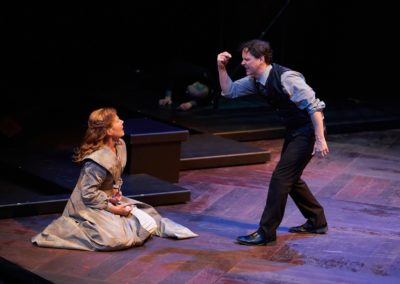 Robynn Rodriguez, Jim Poulos - Hamlet by William Shakespeare presented by Repertory Theater of St. Louis on Oct 10, 2017. Photo: Peter Wochniak