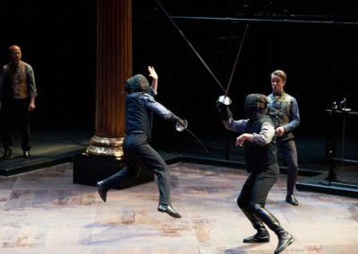 Christopher Gerson, Jim Poulos, Carl Howell, Ben Nordstrom - Hamlet by William Shakespeare presented by Repertory Theater of St. Louis on Oct 10, 2017. Photo: Peter Wochniak