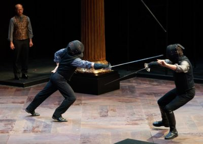 Christopher Gerson, Jim Poulos, Carl Howell - Hamlet by William Shakespeare presented by Repertory Theater of St. Louis on Oct 10, 2017. Photo: Peter Wochniak