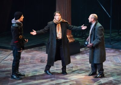 Harrison Farmer, Jim Poulos, Christopher Gerson - Hamlet by William Shakespeare presented by Repertory Theater of St. Louis on Oct 10, 2017.