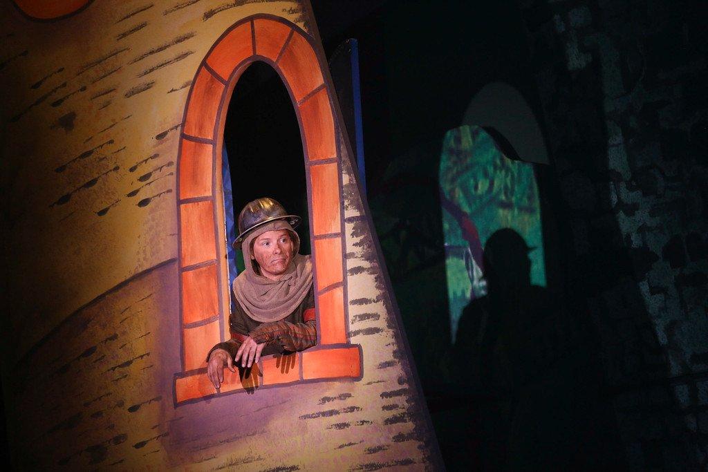 Jim Poulos - Spamalot at Geva Theatre Center, 2015 - Director: Melissa Rain Anderson, Scenic Design: James Morgan, Costume Design: Susan Branch Towne, Lighting Design: Brian J. Lilienthal, Photos: Ken Huth